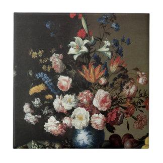 バラユリのタイルを持つ花のファインアート タイル