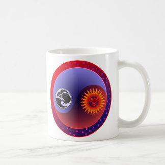 バランスの日曜日そして月 コーヒーマグカップ