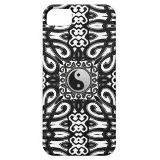 バランスの白黒の陰陽の装飾のiPhone 5の場合 iPhone SE/5/5s ケース