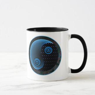 バランスの陰陽の宇宙青 マグカップ