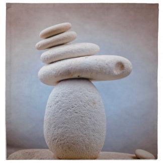 バランスをとる石の正方形 + あなたのアイディア ナプキンクロス