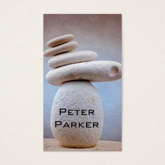 バランスをとる石の正方形 + あなたのアイディア 名刺