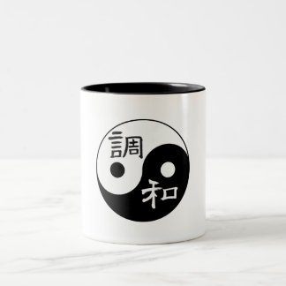バランス及び調和の陰陽 ツートーンマグカップ