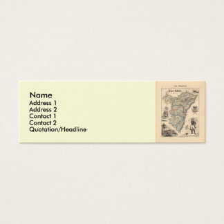 バラン部の1858地図、フランス スキニー名刺