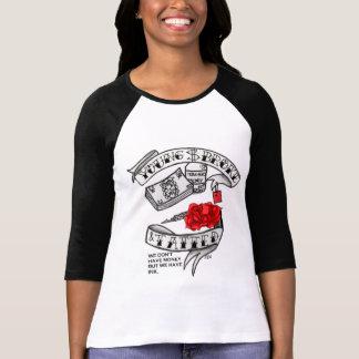 バラ及びお金 Tシャツ