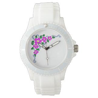 バラ及びリボンの腕時計 腕時計