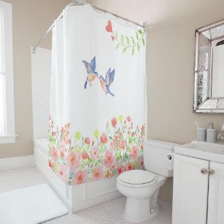 バラ園のかわいらしくエレガントなシャワー・カーテン シャワーカーテン
