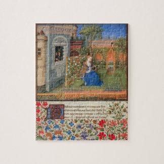 バラ園の中世芸術のエミリア ジグソーパズル