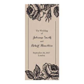 バラ園|の素朴な結婚式プログラム ラックカード