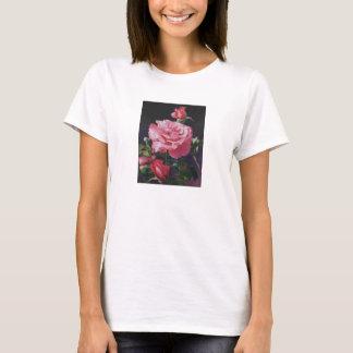 バラ油の絵画のTシャツ Tシャツ