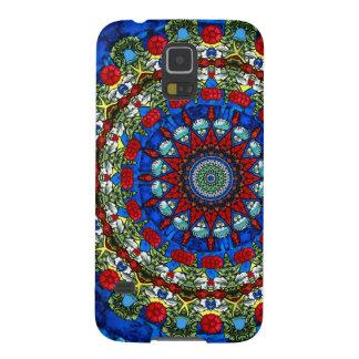 バラ窓の万華鏡のように千変万化するパターンの電話箱 GALAXY S5 ケース