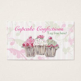 バラ色のカップケーキの名刺 名刺