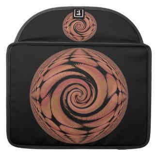 バラ色ベージュ色回転の抽象芸術 MacBook PROスリーブ