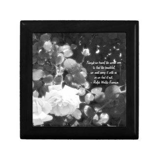 バラ黒いおよび白のまたは引用文と夢を見ること ギフトボックス