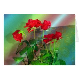 バラ、-ベニス---色 カード