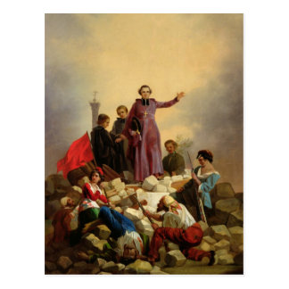 バリケードのAffre、1848年大主教 ポストカード
