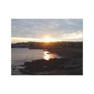 バリーのビーチの日没 キャンバスプリント