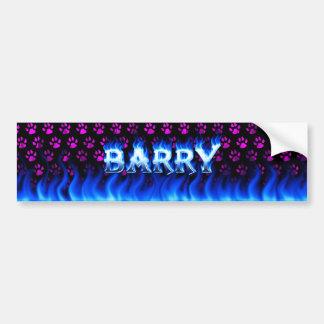 バリーの青い火および炎のバンパーステッカーは設計します バンパーステッカー