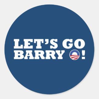 バリーO行こう! オバマ ラウンドシール