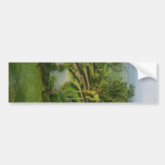 バリ島の台地Ricefield バンパーステッカー