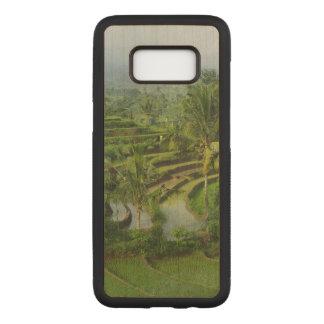 バリ島の島の米分野そしてヤシの木 CARVED SAMSUNG GALAXY S8 ケース
