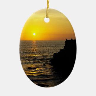 バリ島の島の美しい日没 セラミックオーナメント