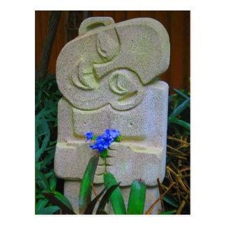 バリ島の彫像 ポストカード