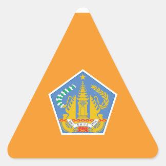 バリ島の旗、インドネシア 三角形シール