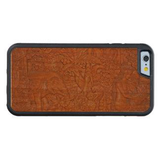 バリ島の木製の切り分ける再生 CarvedチェリーiPhone 6バンパーケース