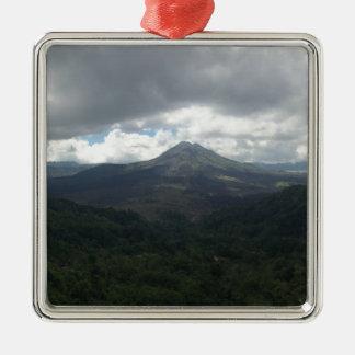 バリ島の火山 メタルオーナメント