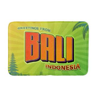 バリ島インドネシアの浴室のマット バスマット
