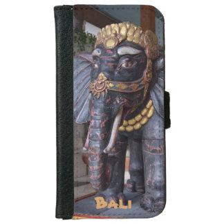 バリ島インドネシア象の神 iPhone 6/6S ウォレットケース
