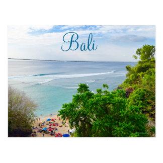 バリ島デンパサルのビーチインドネシア ポストカード