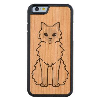 バリ島猫の漫画 CarvedチェリーiPhone 6バンパーケース