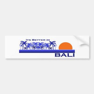 バリ島、インドネシアのそのよりよい バンパーステッカー