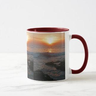 バリ島Tanaのロットの日没 マグカップ