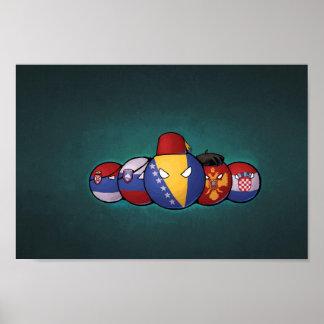 バルカン半島のCountryballs ポスター