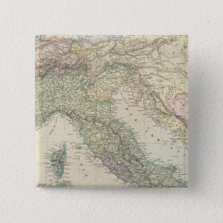 バルカン半島、イタリア、スロベニア 5.1CM 正方形バッジ