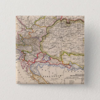 バルカン半島、オーストリア、ハンガリー 5.1CM 正方形バッジ