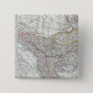 バルカン半島、トルコ、セルビア、ヨーロッパ 5.1CM 正方形バッジ