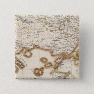 バルカン半島、トルコ、ブルガリア 5.1CM 正方形バッジ