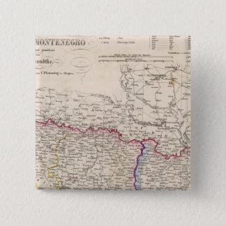 バルカン半島、トルコ、ボスニア 5.1CM 正方形バッジ