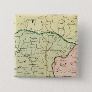 バルカン半島、ハンガリー、ルーマニア2 5.1CM 正方形バッジ
