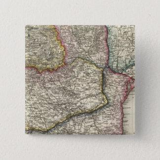 バルカン半島、ブルガリア 5.1CM 正方形バッジ