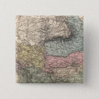 バルカン半島 5.1CM 正方形バッジ