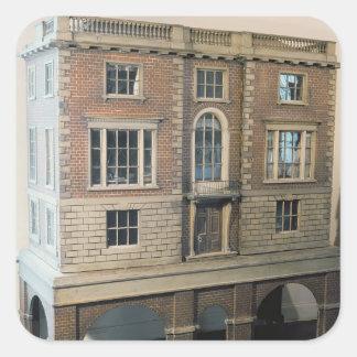 バルコニーが付いている英語balustraded人形の家 スクエアシール