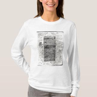 バルザックの仕事の1つからのページ Tシャツ