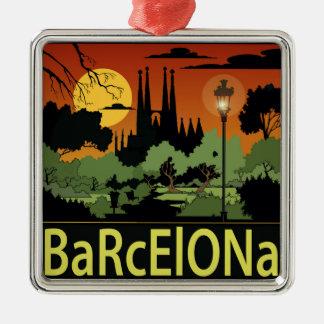 バルセロナのクリスマスのオーナメント メタルオーナメント