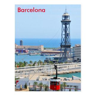 バルセロナのケーブル・カー(ケーブルカー) ポストカード