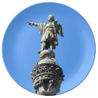 バルセロナのコロンブス記念碑 磁器プレート